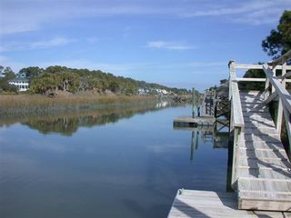 Fripp Island house photo - House is on the canal