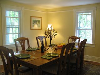Wytheville farmhouse photo - Warm and welcoming the dining room will encourage leisurely meals.