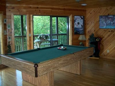 Gameroom complete with pool table, Sauna and views...views...views