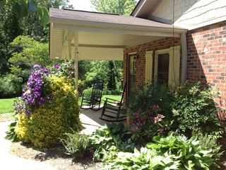 Asheville cottage photo - ~Rock your worries away on the covered front porch~