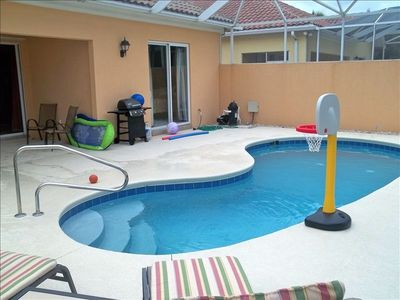 View of backyard pool area