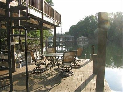 Seating area on the dock