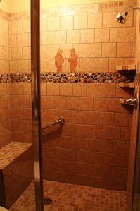 Newly remodeled downstairs shower
