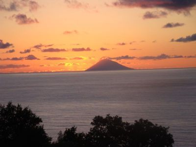 Stromboli from the terrace