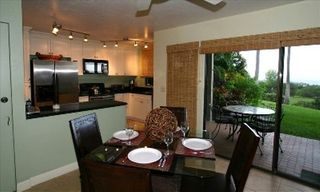 Wailea condo photo - Dining, kitchen and lanai - all with ocean views
