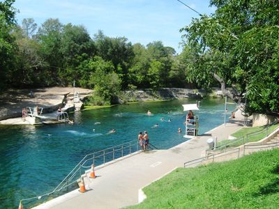 Barton Springs (a natural spring fed pool) at Zilker Park