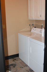 Laundry Room with full size washer & dryer