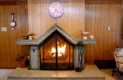 Wood-burning fireplace
