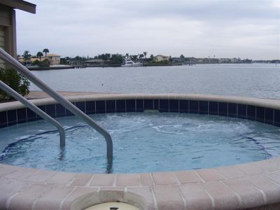 St Pete Beach condo rental - Even on a cloudy day a great view from the hot tub.