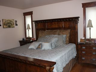 Frisco house photo - Master Bedroom with King Bed, Luxury Bedding, Great Views!