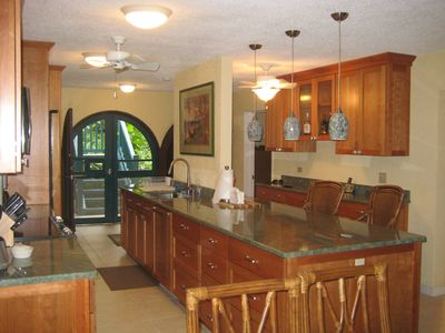 Beautifully remodeled kitchen!!! And front entrance.