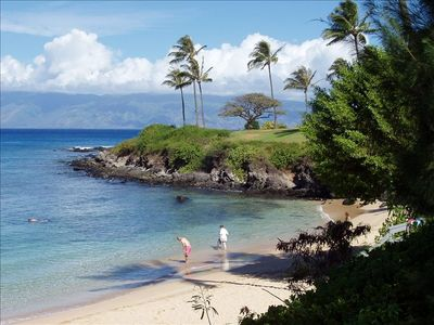 Snorkel, swim, and stroll along Kapalua Bay.....10 minute walk from townhome