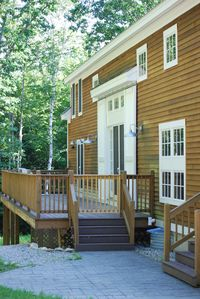 Bethel house rental - back deck