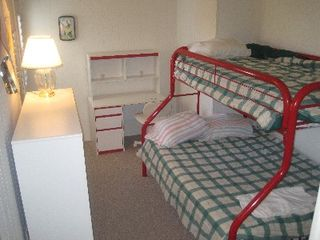 Mariners Wharf condo photo - Second bedroom has a bunk with full on bottom and twin on top.