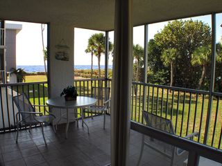 Sanibel Island condo photo - Corner Lanai offers open views of the area