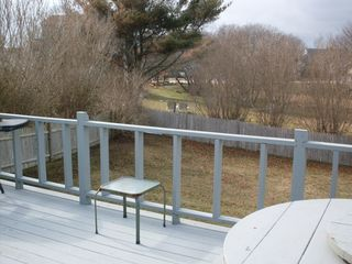 Point Judith house photo - another view of backyard from the deck !