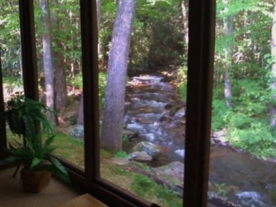 View of creek from sleeping porch