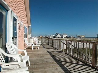 Fort Morgan house photo - Deck View with Lounge Chairs to get that perfect tan or watch the dolphins swim