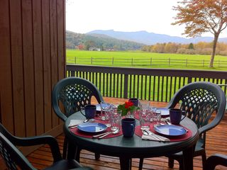 Stowe condo photo - Summer/Fall Patio Dining