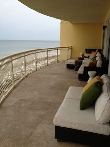 Beach balcony and furnishings