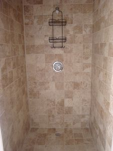3rd Bathroom with oversized walk-in shower, custom tile work