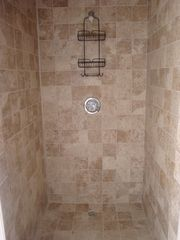 Great Exuma house photo - 3rd Bathroom with oversized walk-in shower, custom tile work