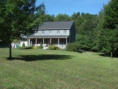 Totally private setting, surrounded by woods; acres of fields; birds; wide Creek