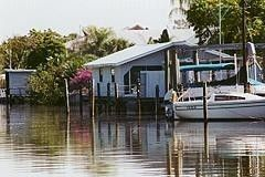 Fort Myers Beach cottage rental - View of Cottage from Water