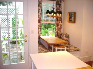 Kennebunkport house photo - Breakfast Nook overlooking the garden