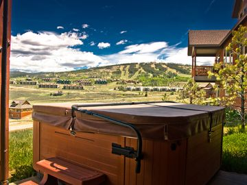 Private Hot Tub with Ski Resort Views
