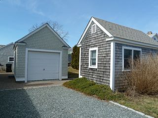 Detached guest cottage on right, garage on left - Narragansett cottage vacation rental photo