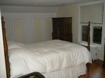 Master bedroom; large closet space