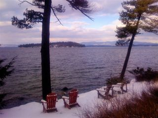 Chairs in the snow....out in front of camp. - Alton house vacation rental photo