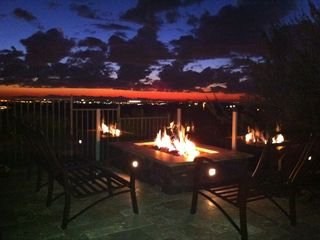 Mesa house photo - Firepit just after sunset