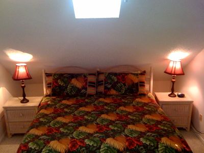 Master Suite, king-sized bed (3rd floor) with private bath & sitting area.