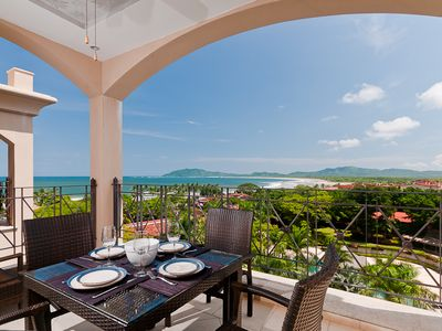 Terrace view - Patio off the living room with great ocean views of Playa Grande