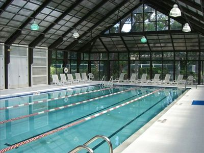 Indoor pool at fitness center