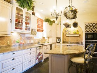 Austin estate photo - Kitchen in main Villa. Can be sectioned off for Chef privacy.