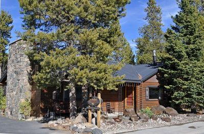 Curb appeal ~ Landscaped with native boulders, lodgepole pine and fir
