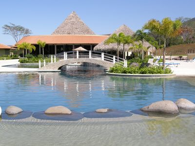 One of the Westin pools, with swim up bar, Asian-fusion restaurant.