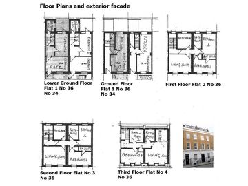 Floor plans of all flats and exterior view