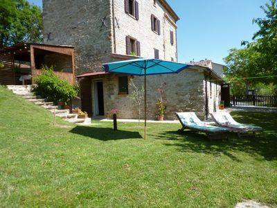 Apartment in Montefeltro Marche with garden fenced 1000m