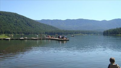 The Cove Resort at Fish Lake a few miles away. Great Fishing!
