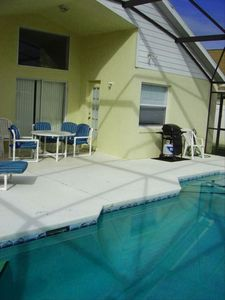 Windsor Palms house rental - Pool patio and grill