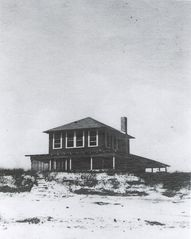 Siesta Key house photo - as built in 1916, this home is seen here in 1918, the first home on the Key.