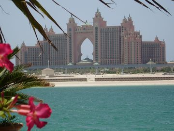 View of Atlantis Hotel from rear garden.