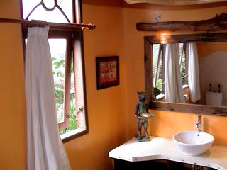 Sanur house photo - Private upstairs bathroom. Terrazzo floor, full bath and shower not shown.