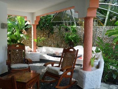 Cabarete villa rental - Outdoor terrace