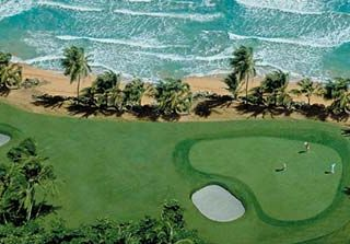 Rio Mar villa photo - Rio Mar Ocean Course signature #16 which sits adjacent to our property