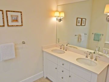 Master Bath Features Double Vanity & Glass Walk-in Shower (only)